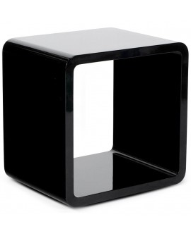 table basse design VERSO BLACK 35x45x45 cm