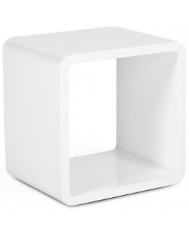 table basse design VERSO WHITE 35x45x45 cm