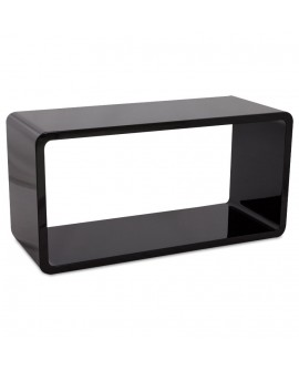 Table basse design RECTO BLACK 45x90x45 cm