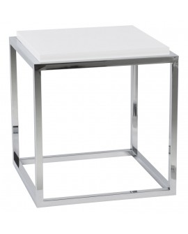 Table basse design KVADRA WHITE 42x42x44 cm