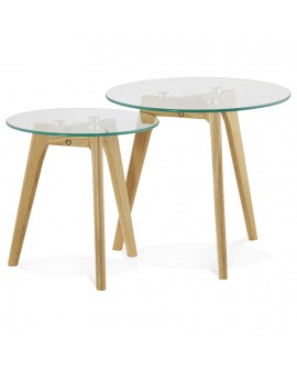 Table basse design IGGY CLEAR 50x50x45 cm