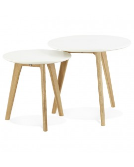 Table basse design ESPINO WHITE xx cm