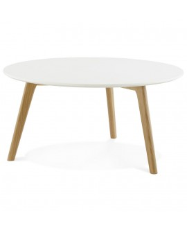 Table basse design KINGSTON WHITE 90x90x45 cm