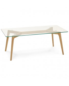 Table basse design SCARA CLEAR 60x120x46,5 cm