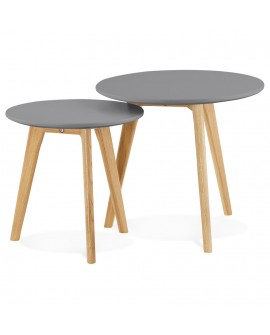 Table basse design ESPINO DARK GREY 50x50x45 cm