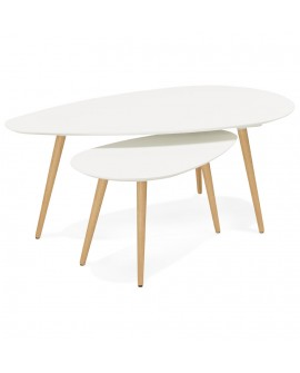 Table basse design GOSMI WHITE 66x116x45 cm