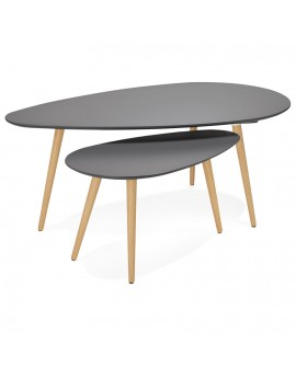 Table basse design GOSMI DARK GREY 66x116x45 cm