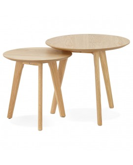 Table basse design ESPINO NATURAL 50x50x45 cm