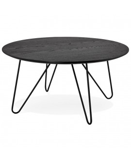 Table basse design RUNDA BLACK 80x80x40 cm