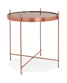 Table basse design ESPEJO MINI COPPER 42,7x42,7x45 cm