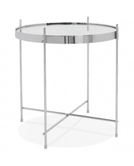 Table basse design ESPEJO MINI CHROME 42,7x42,7x45 cm
