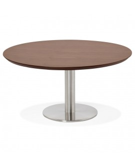 Table basse design STUD WALNUT 90x90x45 cm