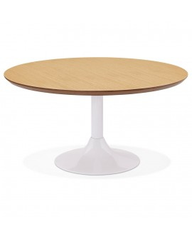 Table basse design BELLA NATURAL 90x90x45 cm