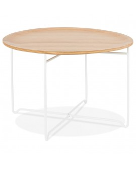 Table basse design MAREA NATURAL 60x60x40 cm