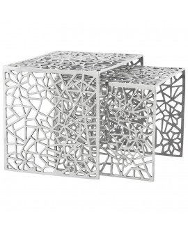 Table gigogne design BIKO ALU 39x50x39 cm