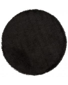 Tapis design COZY RONDO BLACK 160x160x3 cm