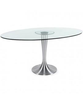 Table à diner design OVALNA CLEAR 106x160x76 cm