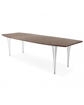 table a diner design EXTENSIO WALNUT 100x170x74 cm