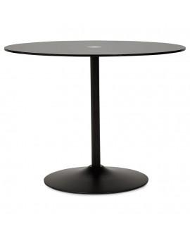 Table à diner design BLOMA BLACK 100x100x75 cm