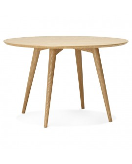 Table à diner design JANET NATURAL 120x120x75 cm