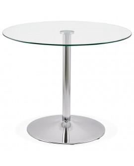 Table à diner design EUKA CHROME 90x90x74 cm