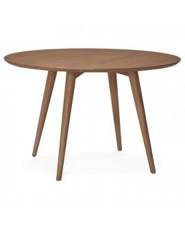 Table à diner design JANET WALNUT 120x120x75 cm
