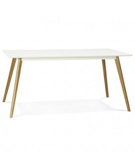 Table à diner design CRUSH WHITE 90x160x75 cm