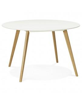 Table à diner design CAMDEN WHITE 120x120x75 cm