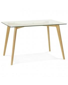 Table à diner design TONY CLEAR 80x120x75 cm