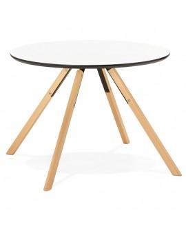 Table à diner design IVORY WHITE 100x100x75 cm