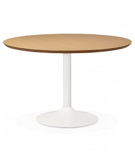 Table à diner design BURO 120 NATURAL 120x120x77,5 cm