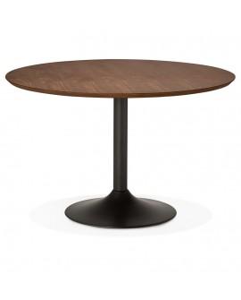 Table à diner design PATON 120 WALNUT 120x120x77,5 cm