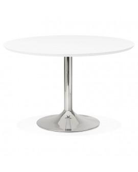 Table à diner design BLETA 120 WHITE 120x120x77,5 cm