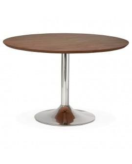 Table à diner design BLETA 120 WALNUT 120x120x77,5 cm