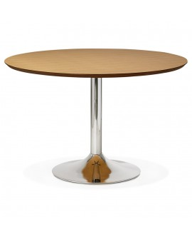 Table à diner design BLETA 120 NATURAL 120x120x77,5 cm