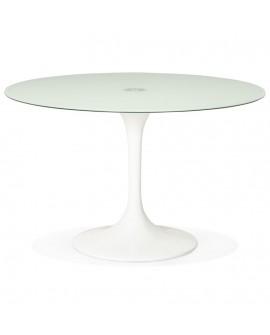 Table à diner design DAKOTA WHITE 120x120x75 cm