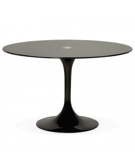 Table à diner design DAKOTA BLACK 120x120x75 cm