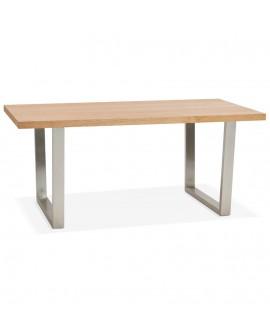 Table à diner design HEVEN NATURAL 90x180x77 cm