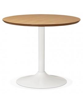 Table à diner design BURO 90 NATURAL 90x90x75 cm