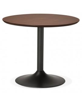 Table à diner design PATON 90 WALNUT 90x90x75 cm
