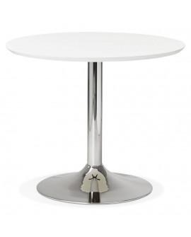 Table à diner design BLETA 90 WHITE 90x90x75 cm