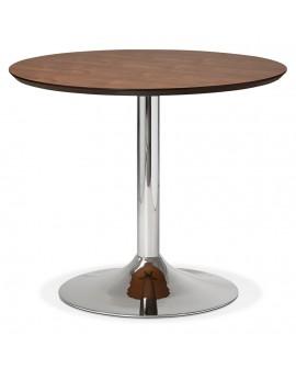 Table à diner design BLETA 90 WALNUT 90x90x75 cm