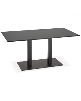 Table à diner design VAXA BLACK 80x160x75 cm
