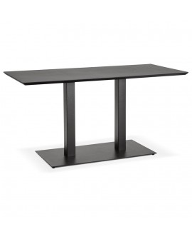Table à diner design JAKADI BLACK 70x150x75 cm