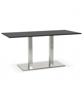 Table à diner design SUTTON BLACK 80x160x75 cm