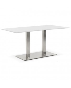 Table à diner design SUTTON WHITE 80x160x75 cm