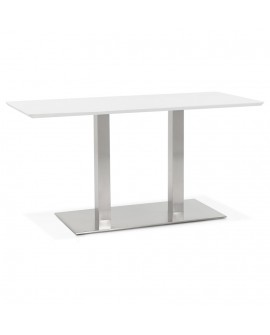 Table à diner design RECTA WHITE 70x150x75 cm