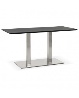 Table à diner design RECTA BLACK 70x150x75 cm