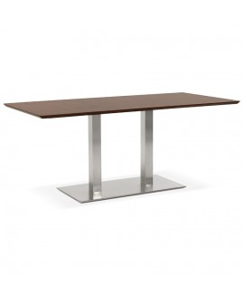 Table à diner design RECTA WALNUT 90x180x75 cm