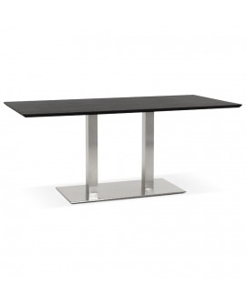 Table à diner design RECTA BLACK 90x180x75 cm